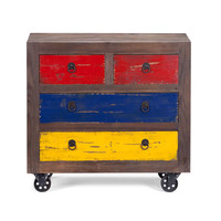 Playfully Rustic Rolling Cabinet