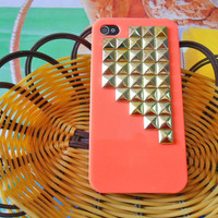 iPhone hard Case cover with Golden pyramid for Apple iPhone 4 case ,iPhone 4S case, iPhone 4GS case,cell iPhone hand case cover   SJK-1799
