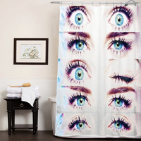 miley cyrus ice cream custom shower curtain