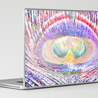 Peacock Dreams Inverted Laptop & iPad Skin by Steve Purnell | Society6