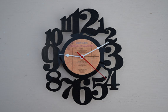 Vinyl Record Album Wall Clock (artist is Duran Duran)