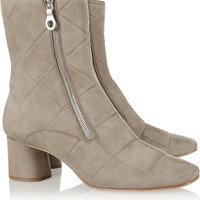 Marc Jacobs - Quilted nubuck ankle boots