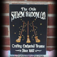 Olde Salem Broom Co Sign