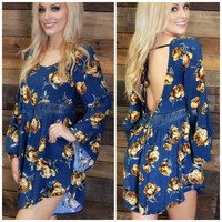 Night Garden Navy Floral Romper