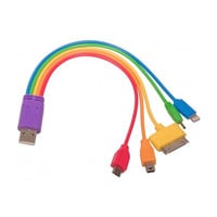 5 In 1 Rainbow USB Charger