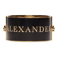 Alexander Mcqueen Gold And Black Enamel Cuff