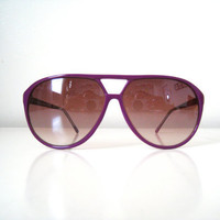 Vintage Purple Aviator Sunglasses
