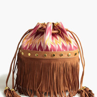 Colorful Sunsets Fringe Purse