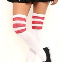 Knee High Athletic Sock with 3 Stripes