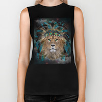 Fight For What You Love (Chief of Dreams: Lion) Tribe Series Biker Tank by soaring anchor designs ⚓ | Society6