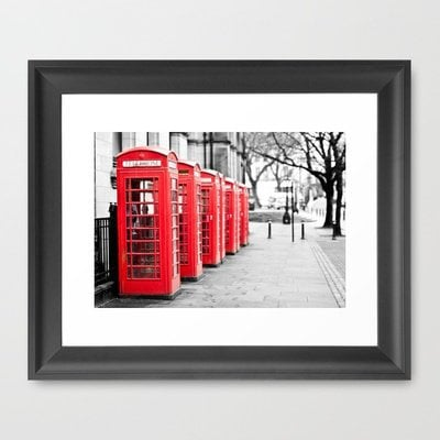 Vintage Red  Framed Art Print by secretgardenphotography [Nicola] | Society6