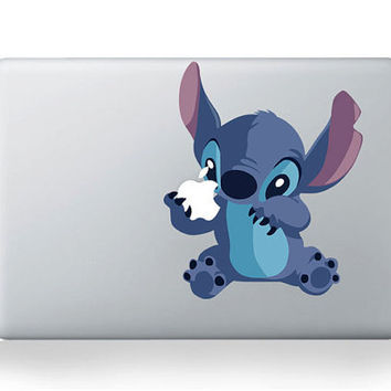 Cute Stitch  ---  Mac Decal Macbook Decals Macbook Stickers Vinyl decal for Apple Macbook Pro/Air iPad