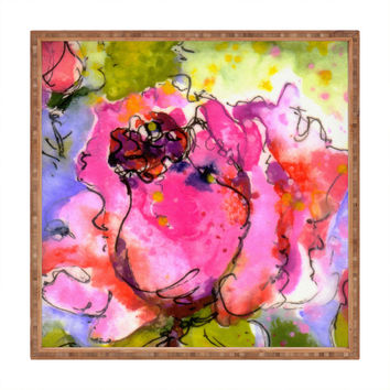 Ginette Fine Art Rose Bud Square Tray