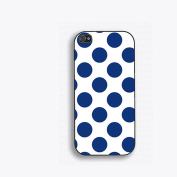 Blue Polka Dot Phone Case, for iPhone 5, iPhone 5s, iPhone 5c, iPhone 4, iPhone 4s, Galaxy S3, S4 and S5. NM-131