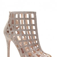Champagne Glitter Piped Caged Peep Toe Heels @ Cicihot. Booties spell style, so if you want to show what you're made of, pick up a pair. Have fun experimenting with all we have to offer!