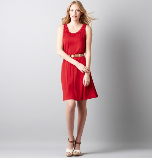 Shirred Neck Tank Dress