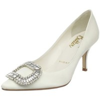 Bridal by Butter Women`s Cosette-B Point Pump,ivory satin,6 M US