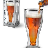 Hopside Down Glass Upside Down Stylish Beer Mug, Fun & Unique Gifts