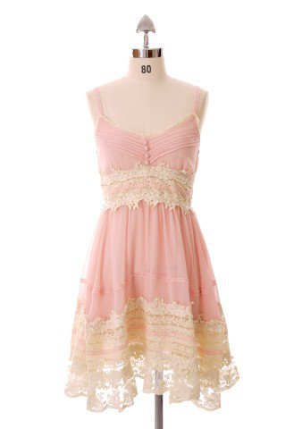 Got a Date Pink Lace Dress - Back in stock - Retro, Indie and Unique Fashion