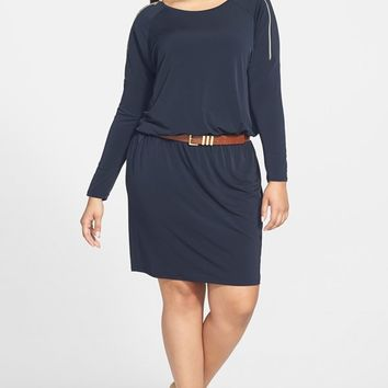 MICHAEL Michael Kors Zip Sleeve Dress (Plus Size) | Nordstrom