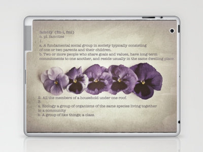DEFINITION FAMILY Laptop &amp; iPad Skin by Mnika  Strigel	 | Society6