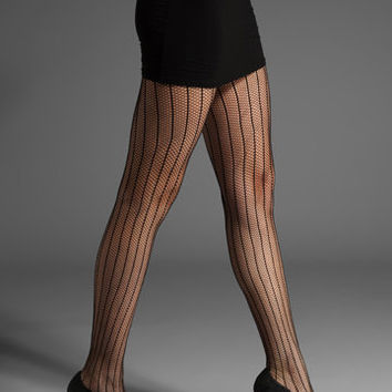 Commando Sexy Stripes Tights in Black
