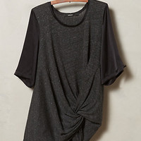 Twist-Front Tee by Amadi Dark Grey