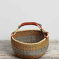 Vintage Zigzag Woven Basket - Urban Outfitters