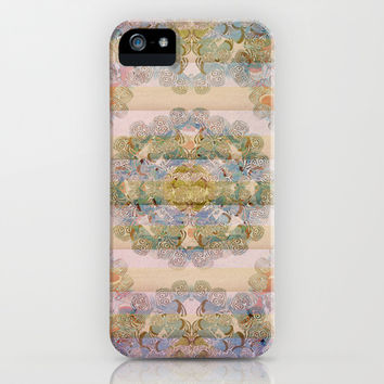 Pastel Gold Abtract iPhone & iPod Case by Sandra Arduini | Society6