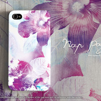 Apple iphone case for iphone 5 iphone 5s iphone 5c iphone 4 iphone 4s iPhone 6 iphone 6 plus : abstract violet flowers
