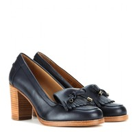 a.p.c. - leather loafer pumps
