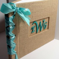 Wedding Guestbook/Album W/Monogram-.. on Luulla