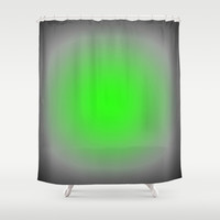 Bright Green & Gray Focus Shower Curtain by 2sweet4words Designs | Society6