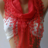 pomegranate flower - Cotton/ Traditional Turkish fabric -Anatolian Shawl--