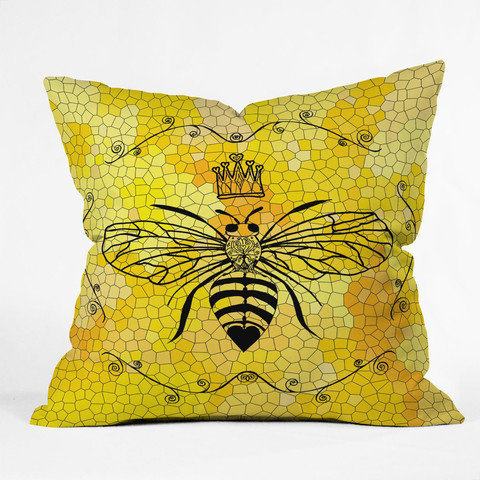 DENY Designs Home Accessories | Lisa Argyropoulos Queen Bee Throw Pillow