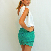 You've Got The Love Skirt in Jade -  $35.00 | Daily Chic Bottoms | International Shipping