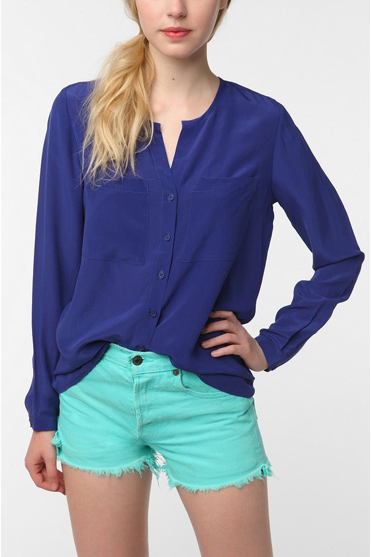 Silence &amp; Noise Silk Blouse