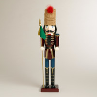 Red Extra-Large Traditional Nutcracker - World Market