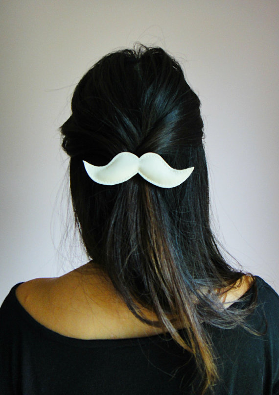 Moustache Hair Clips