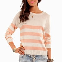Striped Down Sweater