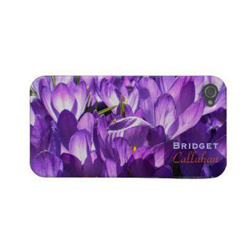 Purple Crocuses iPhone 4 case *personalize* from Zazzle.com
