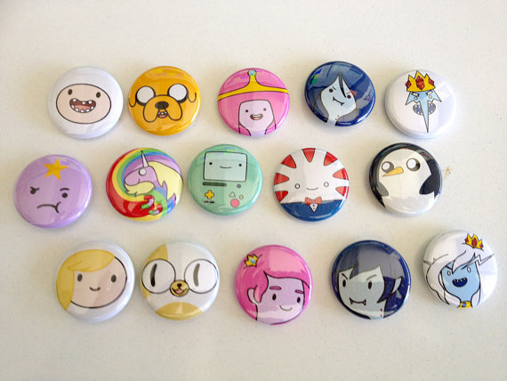 "Adventure Time 1"" button set"