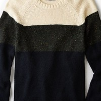 AEO Men's Colorblock Crew Sweater (Sheep)