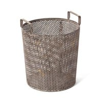 Industrial Basket Tall Round Storage Kitchen Decor