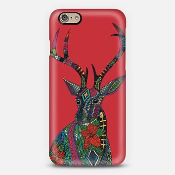 poinsettia deer red iPhone 6 case by Sharon Turner | Casetify ~ get $10 off using code: 5A7DC3