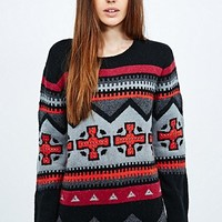Eleven Paris Flappa Intarsia Sweater - Urban Outfitters