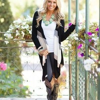 Country Winter Cardigan Black