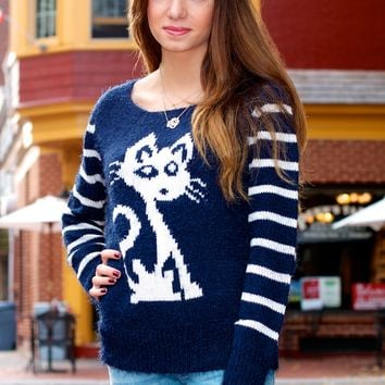 Fuzzy Cat Sweater