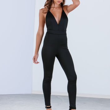 All Curves Open Back Jumpsuit