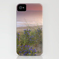 Purple flowers at the sea sunset iPhone Case by Guido Montañés | Society6